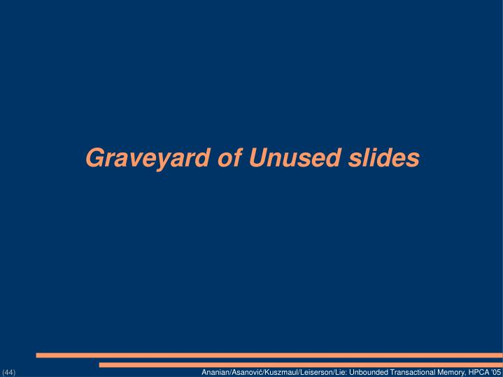 Graveyard of Unused slides