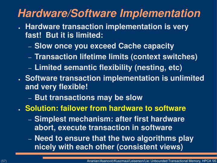 Hardware/Software Implementation