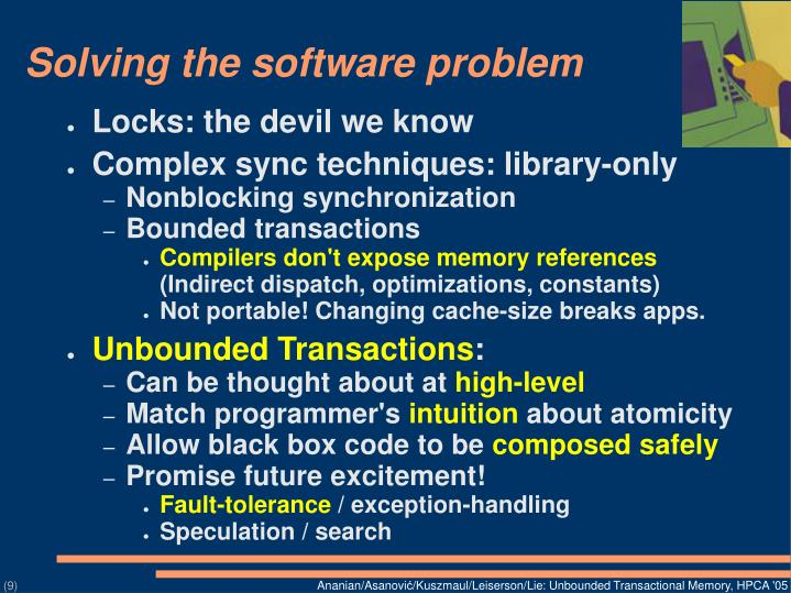 Solving the software problem