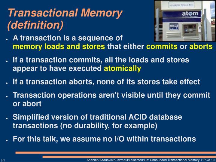 Transactional Memory