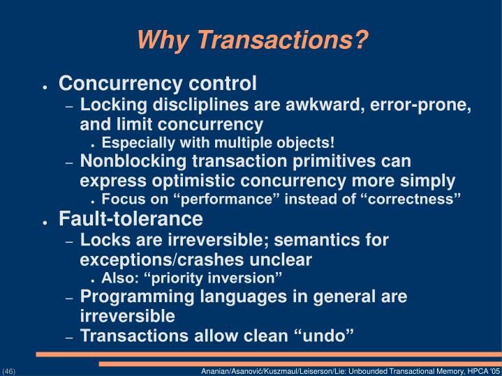 Why Transactions?