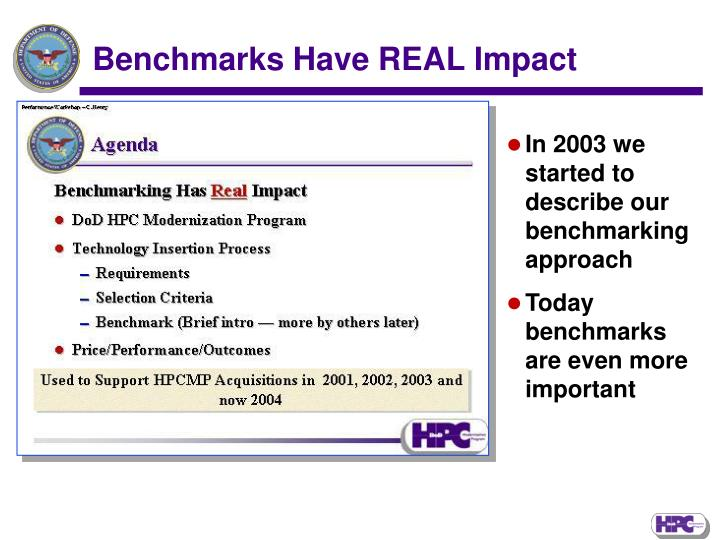 Benchmarks Have REAL Impact