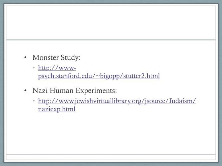 Monster Study: