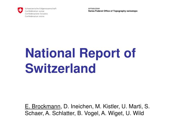 National report of switzerland