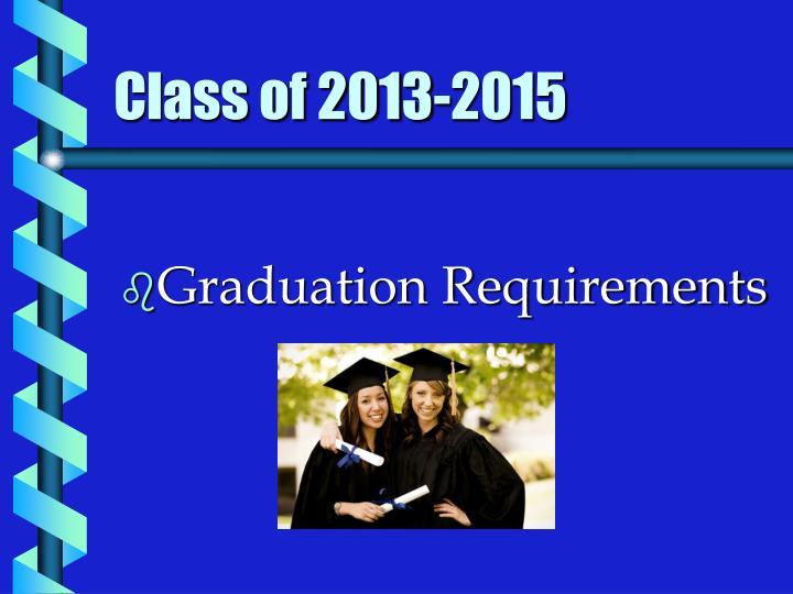 Class of 2013-2015