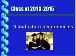 class of 2013 2015
