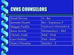 cvhs counselors