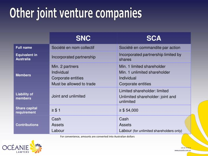 Other joint venture companies