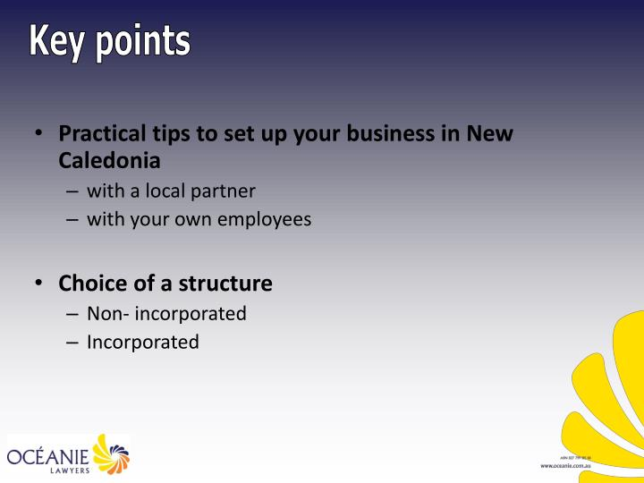 Practical tips to set up your business in New Caledonia