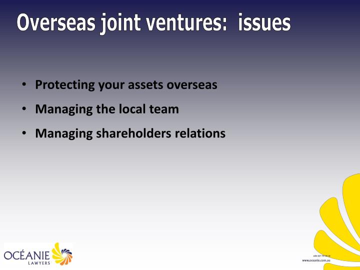 Protecting your assets overseas