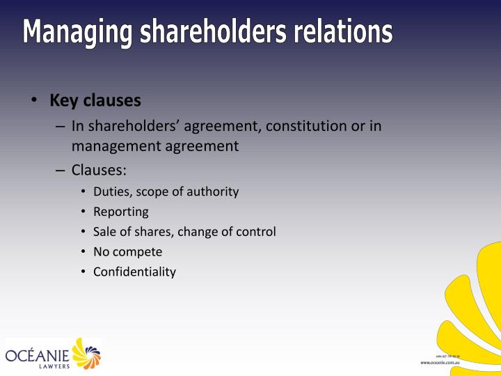 Key clauses
