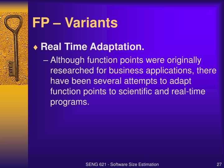 FP – Variants