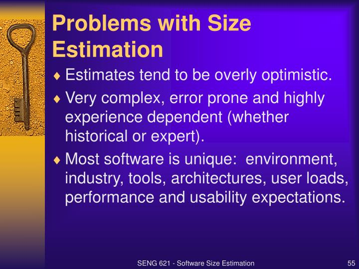 Problems with Size Estimation