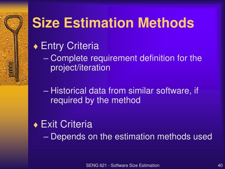 Size Estimation Methods
