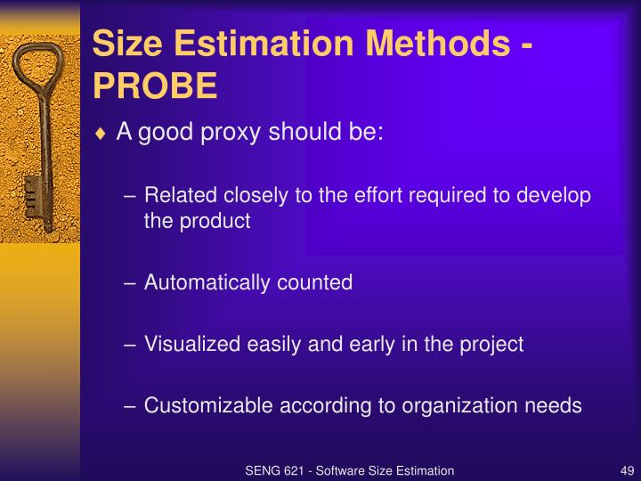 Size Estimation Methods - PROBE