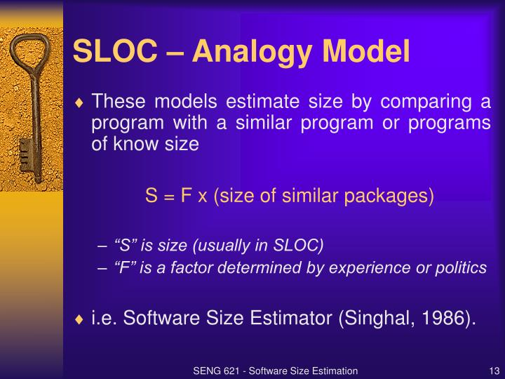 SLOC – Analogy Model