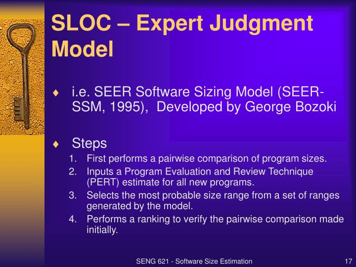 SLOC – Expert Judgment Model