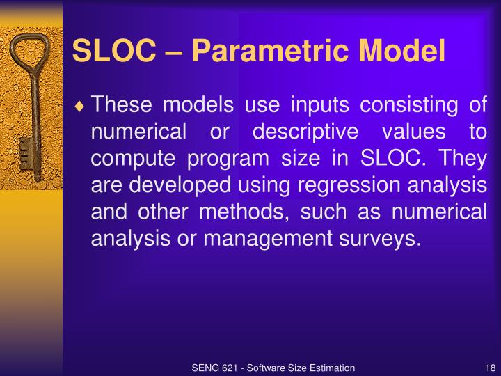 SLOC – Parametric Model