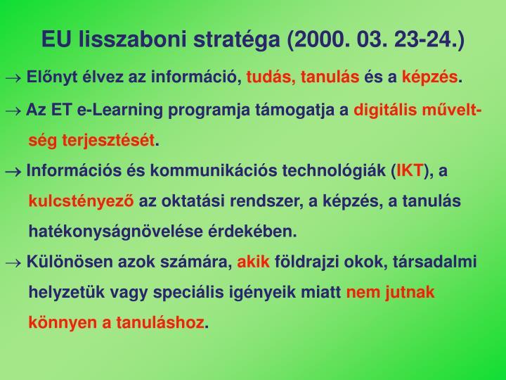EU lisszaboni stratéga (2000. 03. 23-24.)