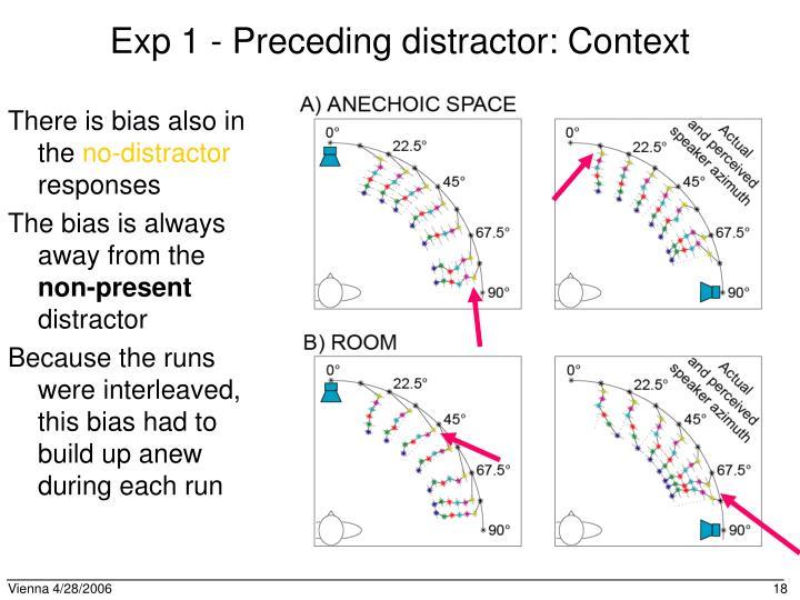 Exp 1 - Preceding distractor: Context