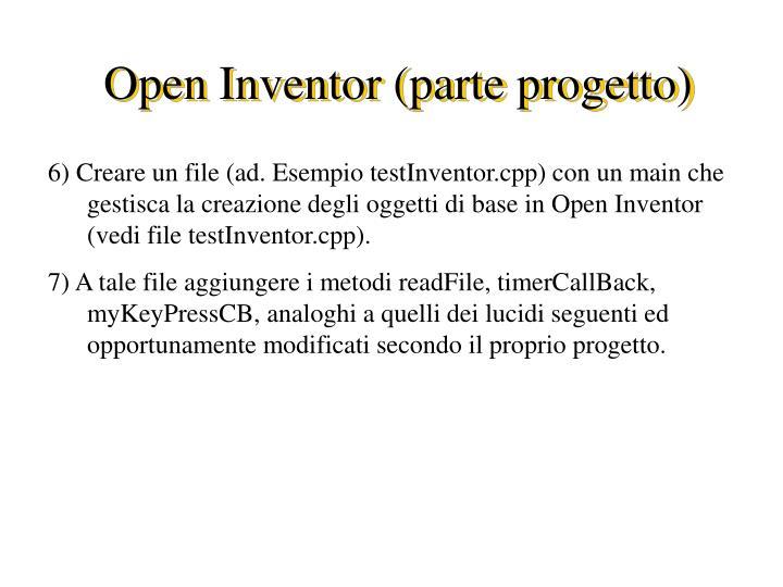 Open Inventor (parte progetto)