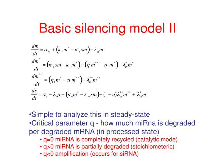 Basic silencing model II