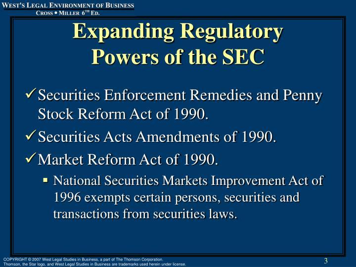 Expanding Regulatory
