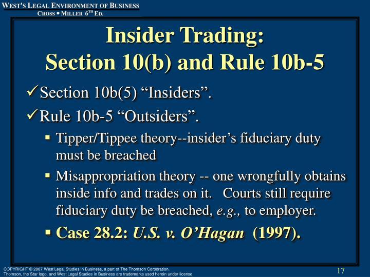Insider Trading: