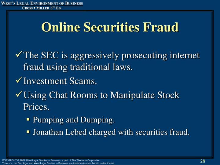 Online Securities Fraud