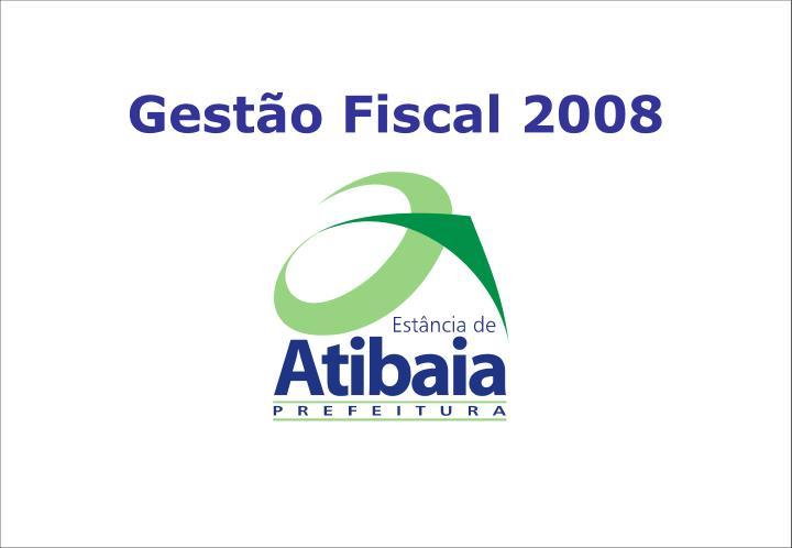 Gestão Fiscal 2008