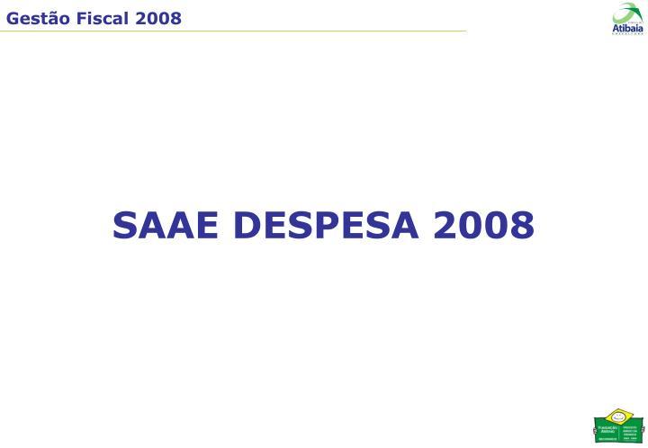 SAAE DESPESA 2008