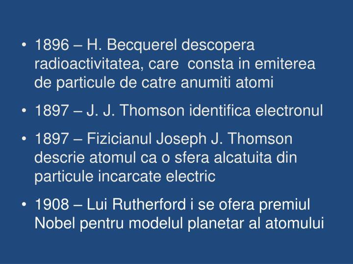 1896 – H. Becquerel