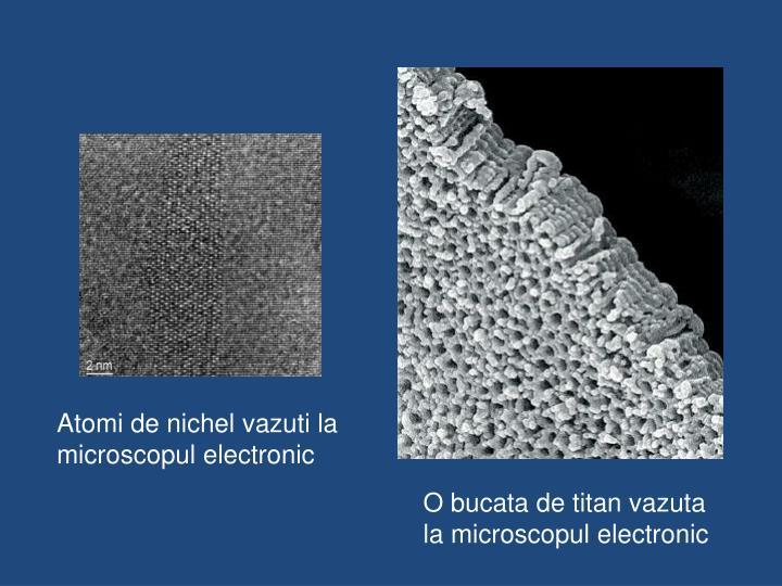 Atomi de nichel vazuti la microscopul electronic