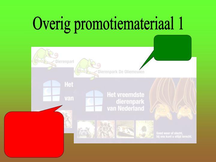 Overig promotiemateriaal 1