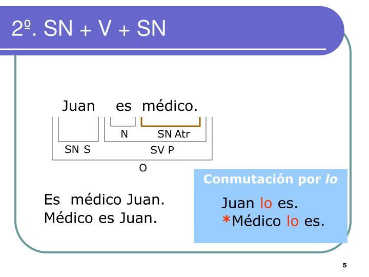 2º. SN + V + SN
