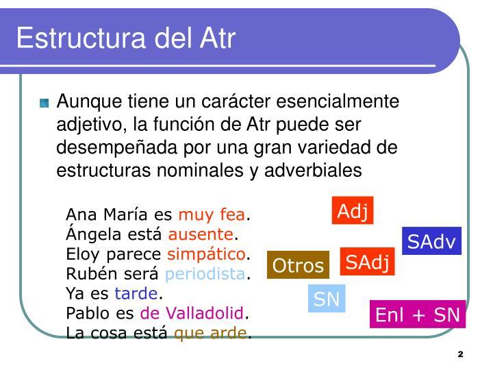 Estructura del Atr