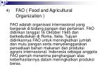 fao food and agricultural organization