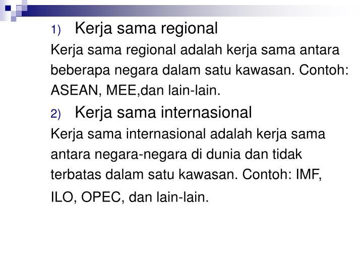 Kerja sama regional