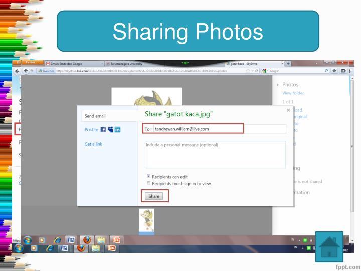Sharing Photos