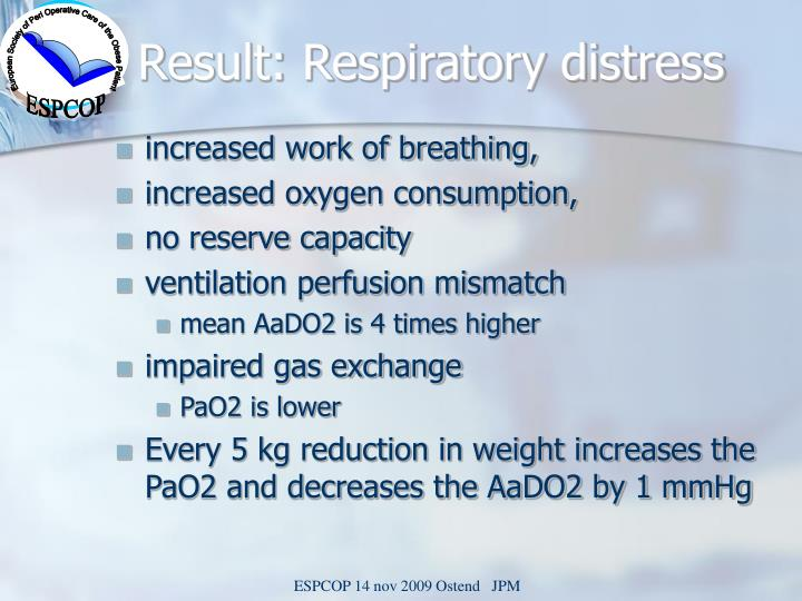 Result: Respiratory distress