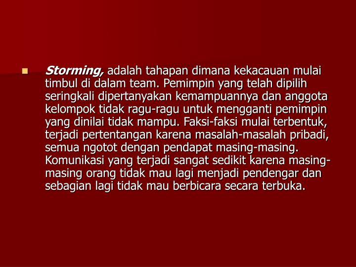 Storming,