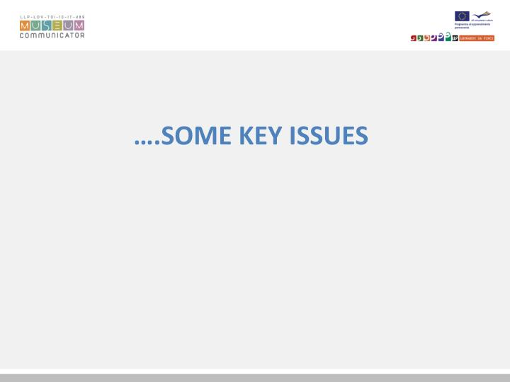 ….SOME KEY ISSUES