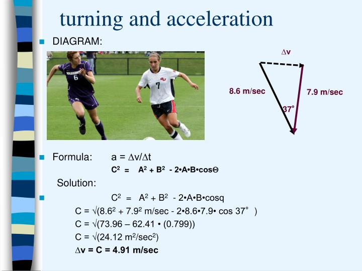 turning and acceleration