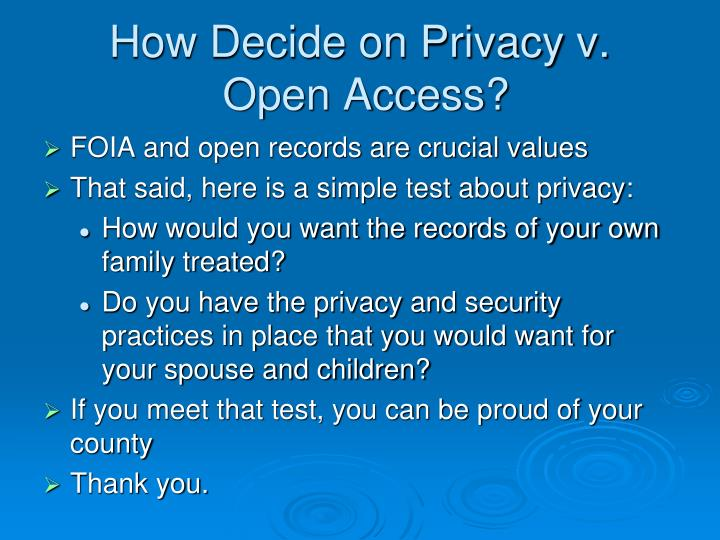 How Decide on Privacy v.
