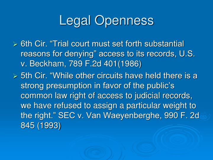 Legal Openness