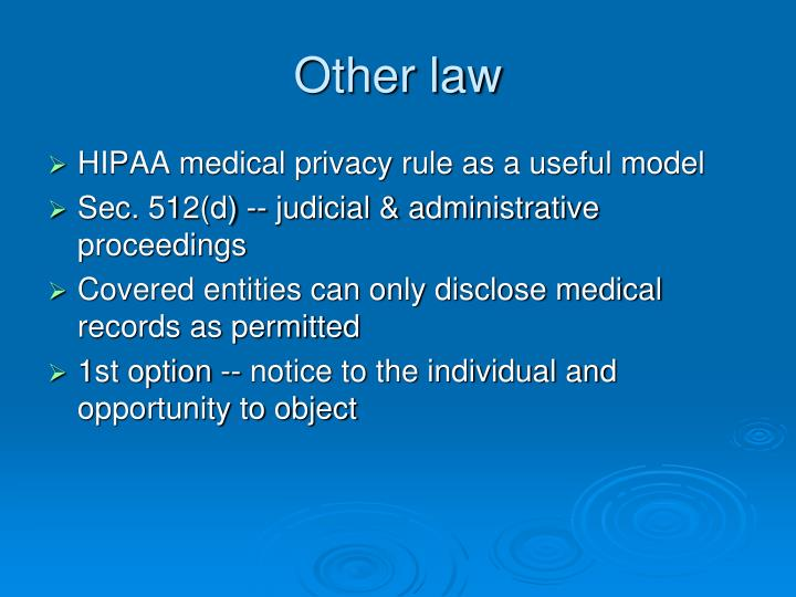 Other law