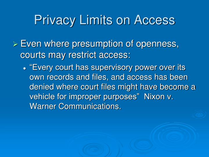 Privacy Limits on Access