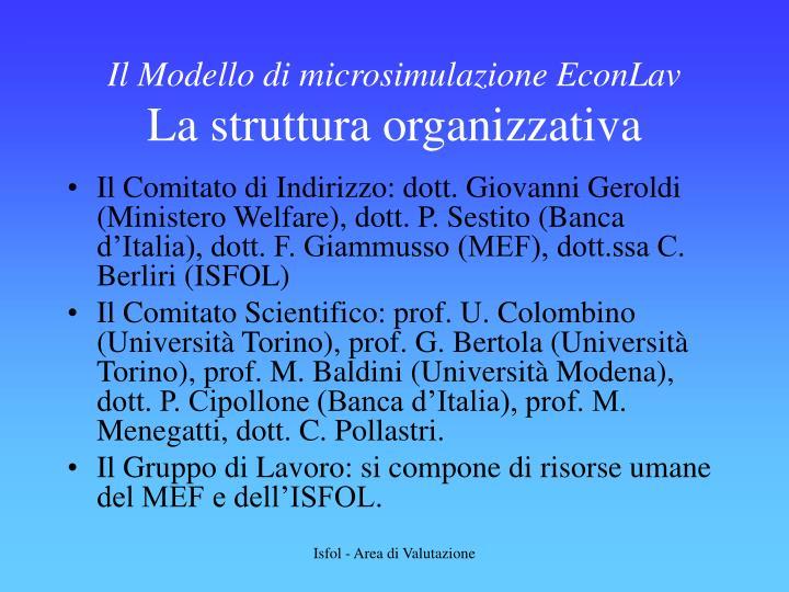 Il Modello di microsimulazione EconLav