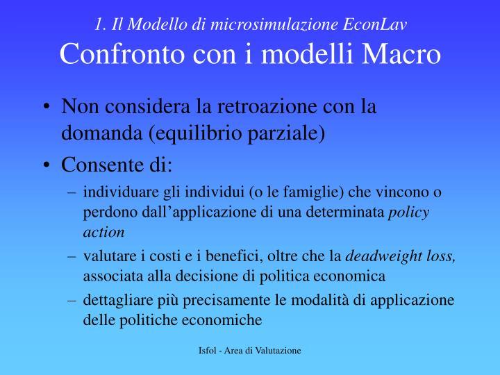 1. Il Modello di microsimulazione EconLav