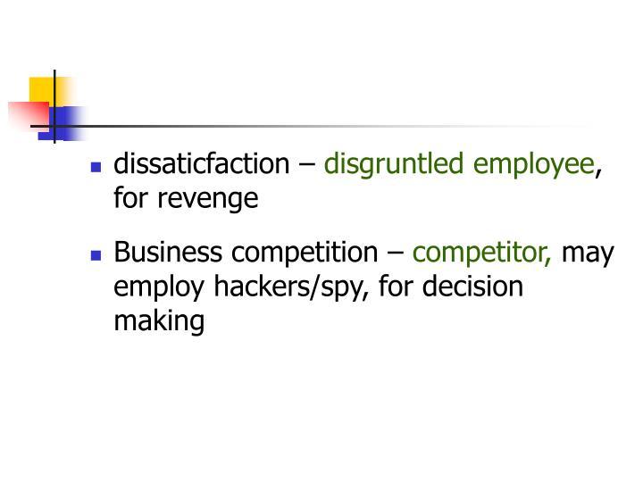 dissaticfaction –